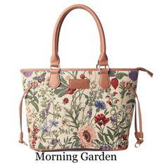 shoulder bags  Signare Fashion Canvas Tapestry Bag Tote Bag Valentine  Present for Her Shoulder Bag Morning Garden Design British Design 115aa9d66e730