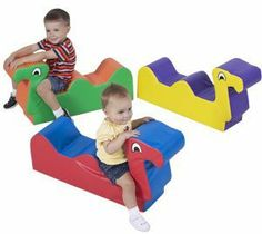 Nessie Family - Set of 3 by Children's Factory. $232.29. Set of 3. 33 in. L x 9 in. W x 7.5 in. H Three friendly romp and play friends. Little ones nest and play on our softly safe critters. Play is a child's most important work and The Children's Factory continues to be the world leader in soft play.. Two seats foster social interaction and turn taking. Set of 3. Two seats foster social interaction and turn taking. 33 in. L x 9 in. W x 7.5 in. H Three friendly romp and play fri...