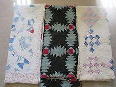 Vintage Antique Handmade Quilt Lot of 3 Cutter Quilts | eBay