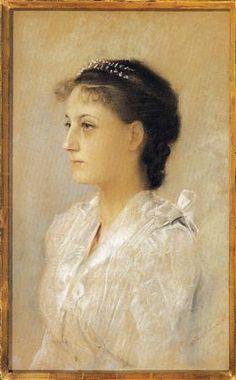 Emilie Flöge, Aged 17 - Gustav Klimt