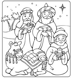 Christmas Colors, Christmas Crafts, Christmas Decorations, Rois Mages, Felt Christmas Stockings, Mary And Martha, Painting Templates, Three Wise Men, Christmas Coloring Pages