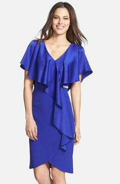 Daymor Crepe Ruffle Dress | Nordstrom  Christine Scaman:  Blue-violet is as lovely on Winter as red-violet.  Satin is beautiful on the Bright Seasons, indeed on any colouring with Spring influence, since it repeats the way that skin inherently reflects light. For the Bright Seasons, make it very shiny.