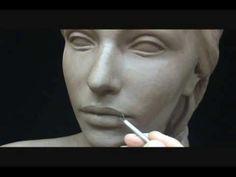 Clay Sculpture | Sculpting a female head in clay. Sculpting tutorial and demo.
