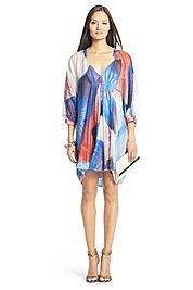 DVF | Fleurette Printed Chiffon Kaftan Dress