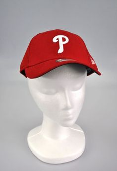 fb861a32529 Phillies New Era Baseball Hat Cap Men s Red League 9Forty Adjustable Hat MLB