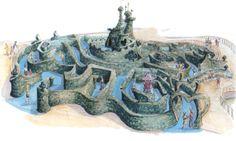 Alice's Curious Labyrinth concept art for Disneyland Paris