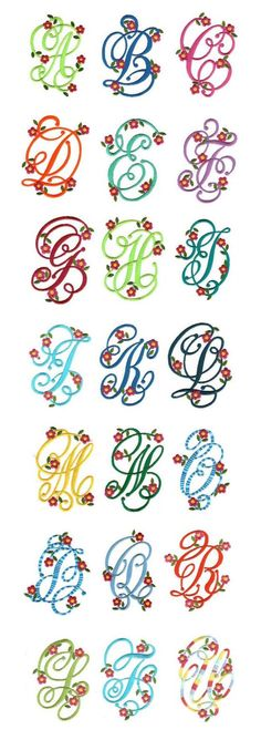 A beautiful and fancy monogram alphabet to get you thinking of Spring!