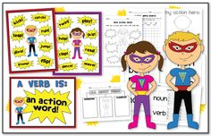 Verb and Verba the Action Figures! This would have been sweet when we did our superhero unit!