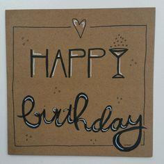 Handlettering Happy Birthday