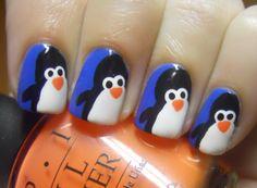 Penguin Nail Art