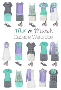 Capsule Wardrobe: Lavender and Mint by mary-grace-see on Polyvore featuring moda, True Decadence, ..,MERCI, M&Co, Hurley, Lands' End, Closed, BOSS Hugo Boss, Le Nom and IPANEMA