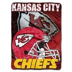 Kansas City Chiefs 60x80 Aggression Design Royal Plush Raschel Throw Blanket