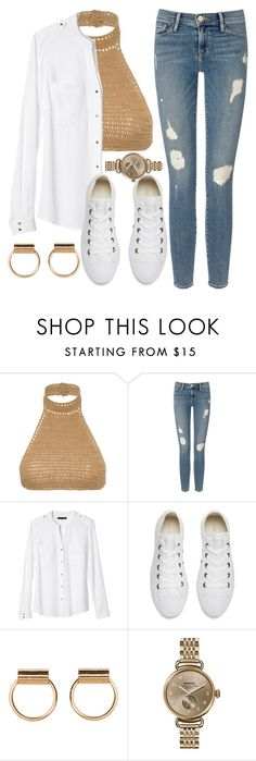 """""""Gold"""" by mareehamasood246 on Polyvore featuring SHE MADE ME, Frame Denim, Banana Republic, Converse and Shinola"""