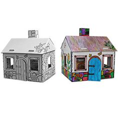 My Very Own House® Childrens Coloring Playhouse Cardboard Cottage is ...