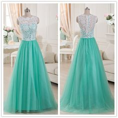 New Arrival Evening Dress,Long Formal Evening Gown,Tulle Prom