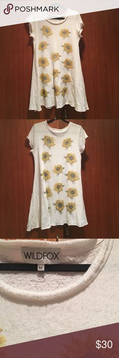 Wildfox Couture Sweatshirt Sunflower Dress Fits true to size. Super soft worn in material. Wildfox Couture Dresses Mini