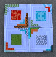 converging corners quilt blocks | 4 blocks completed, 16 to … | Flickr