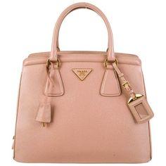 Prada Saffiano Parabole Tote found on Polyvore featuring bags, handbags, tote bags, purses, zip tote bag, red tote, prada purses, red purse and red handbags