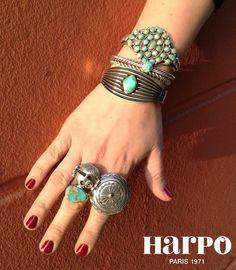 Harpo Bijoux © #bagueturquoise #braceletturquoise