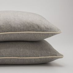 Gray Classic Piped Pillow