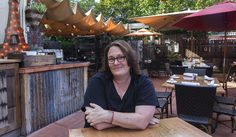 """SONDRA BERNSTEIN, owner of the girl & the fig, worked with Michael """"Bug"""" Deakin to redo the patio at the restaurant. Robbi Pengelly/Index-Tribune"""