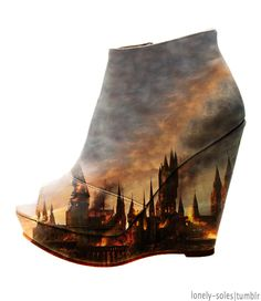 im not marryin a female untill she buys these( im a freak) Harry Potter Shoes, Harry Potter Outfits, Pretty Shoes, Beautiful Shoes, Crazy Shoes, Me Too Shoes, Denim Shoes, Geek Out, Mischief Managed