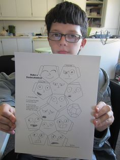 Designing the 12 faces of the Dodecahedron, from the LitWits experience of THE PHANTOM TOLLBOOTH by Norton Juster (1961) / Get sensory, hands-on activity ideas for this great book and 40+ more at  http://www.litwitsworkshops.com/free-resources/ LitWits Kits make literature real, and fun for kids!
