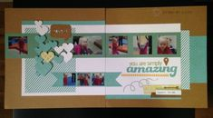 The Amazing Skylark -Layout featuring Cricut Artbooking