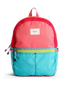 f920605b7f7c The Kane Backpack in Pink and Mint Red Backpack