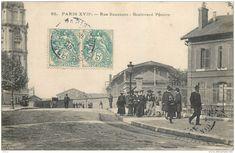 France - 75 - Paris 17e Arr. - Rue Saussure - Boulevard Péreire - Arrondissement: 17 Black White Photos, Black And White, Arrondissement, France, Parisian, Urban, Painting, Old Paris, Antique Pictures