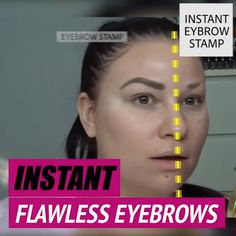 Adjustable Instant Eyebrow Stamp This upgraded Amazing Brow Stamp has an adjustable arch that will get your brows on point instantly! Stamp and you are good to go! Eyebrow Stamp, Eyebrow Makeup, Eyeliner, Makeup Eyebrows, Eye Brows, Beauty Skin, Health And Beauty, Beauty Makeup, Face Beauty