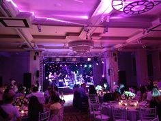 Hilton Ankara - beautifully lit for a special night with a live band