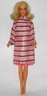 Vintage Mod Barbie in 1968 Pink Dancing Stripes