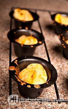 Apple cheddar popover diabetic recipe: easy and free diabetic bread recipe from DiabeticLifestyle. Includes nutritional and diabetic exchange information to help people with type 1 diabetes or type 2 diabetes eat well and manage their blood glucose levels.