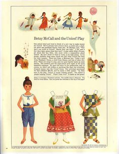 1967 october/ betsy mccall* For lots of free paper dolls International Paper Doll Society #ArielleGabriel #ArtrA thanks to Pinterest paper doll collectors for sharing *