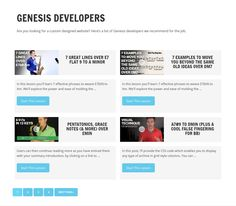 Genesis Developers Style Page