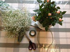 Tiara de flores naturais - MIR coisas