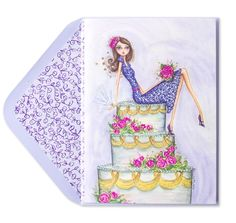 Bella+Pilar+Girl+on+Bridal+Shower+Cake+Price+$5.95