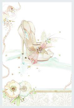 Leading Illustration & Publishing Agency based in London, New York & Marbella. Collages D'images, Wedding Art, Wedding Shoes, Decoupage Paper, Shoe Art, Paper Background, Cardmaking, Illustration Art, Wedding Illustration
