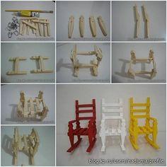 Como fazer uma cadeira de balanço para boneca! :)