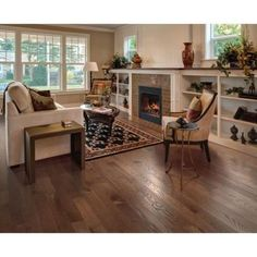 Franklin Burled Oak 3/4 in. Thick x 2-1/4 in. Wide x Varying Length Solid Hardwood Flooring (18.25 sq. ft. / case)-HCC84-09 - The Home Depot