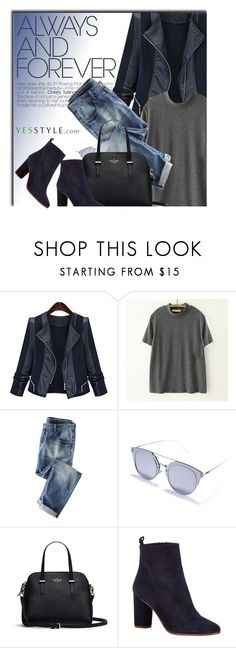 """""""YESSTYLE.com"""" by monmondefou ❤ liked on Polyvore featuring Meimei, Wrap, Shimrock, Maje, women's clothing, women, female, woman, misses and juniors"""