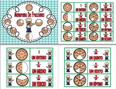 Les compartimos este bonito memorama de fracciones con pizzas muy llamativo y bonito para nuestros alumnos, esta es la primera Jean Piaget, Eureka Math, Math School, Dual Language, Math Fractions, Math Classroom, Math Activities, Teacher, Learning