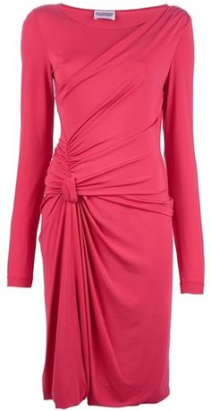 PHILOSOPHY DE ALBERTA FERRATI Raspberry Ruched Dress