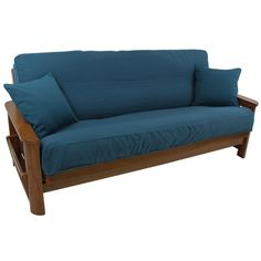 Is your futon mattress suffering from stains or piling? Top it off with the Blazing Needles Full Size Solid Twill Futon Slipcover to make it look just. Armchair Slipcover, Dining Chair Slipcovers, Cushions On Sofa, Throw Pillows, Futon Chair, Chair Upholstery, Sofa Bed, Futons, Daybeds