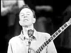 (Song of the day May 10 Pete Seeger - Down By The Riverside. Yesterday we heard a cover of a Pete Seeger cover. Today, let's hear from the man himself - Pete sure did know how to get a crowd singin'! Pete Seeger, Wax Lyrical, Sweet Child O' Mine, Folk Festival, Elementary Music, Folk Music, Fun Workouts, Australia, Songs