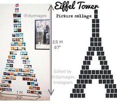C'est très facile avoir une Tour Eiffel avec tes photos dans ta chambre, je vous montre une photo pour que tu peux le faire