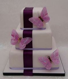 Sugar Butterflies Cake