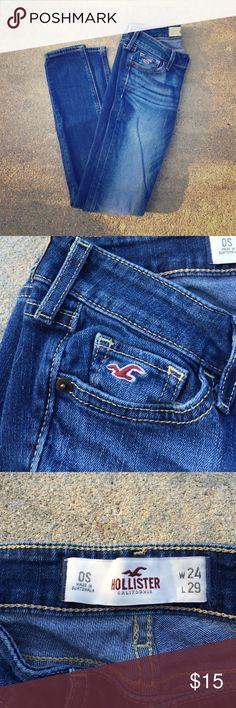Hollister super skinny 0short Hollister super skinny jeans 0short!! Hollister Jeans Skinny