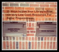 Do you know all of your librarys free resources? For the prepper the library can be your new best friend with these free and very low cost resources.